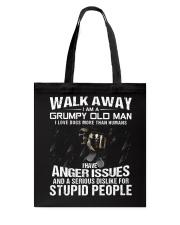 Walk Away I am a Grumpy Old Man I Love Dogs Tote Bag thumbnail