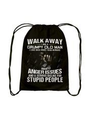Walk Away I am a Grumpy Old Man I Love Dogs Drawstring Bag thumbnail