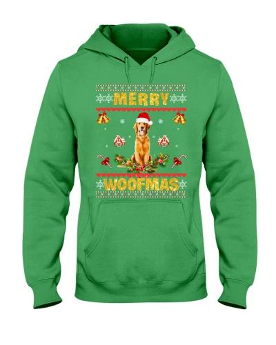 Golden Retriever Merry Woofmas
