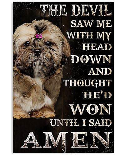 Shih tzu amen poster