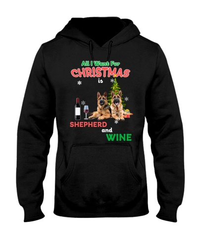 German Shepherds Christmas Wine