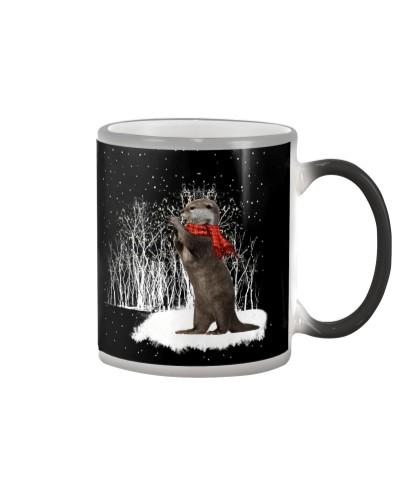 Otter snow color changing mug