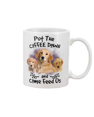 Golden Retriever Put The Coffee Down
