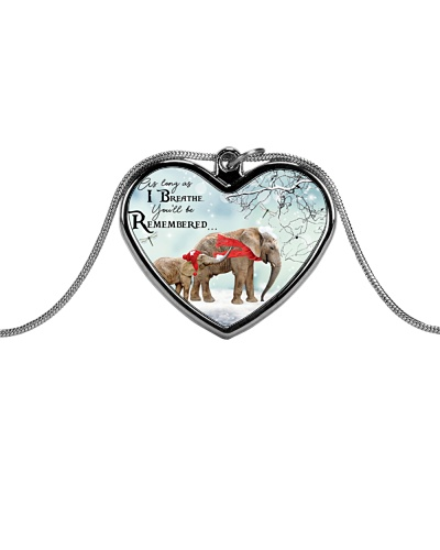 Elephant remember necklace