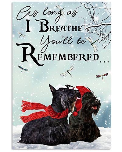 Scottish terrier remember poster