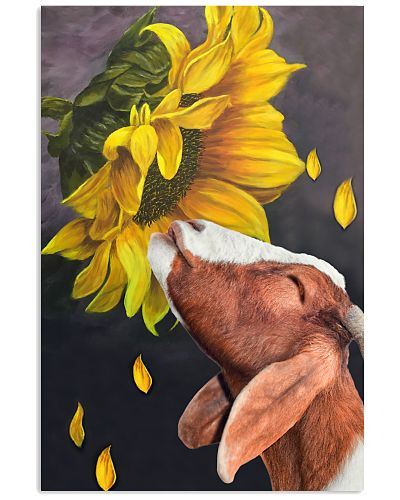 Goat sunflower poster
