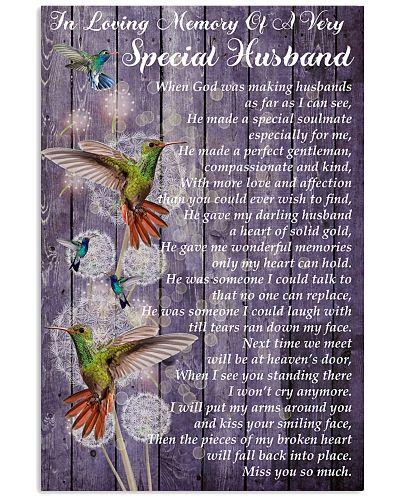 SHN Loving memory special husband Hummingbird