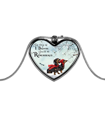 Dachshund remember necklace