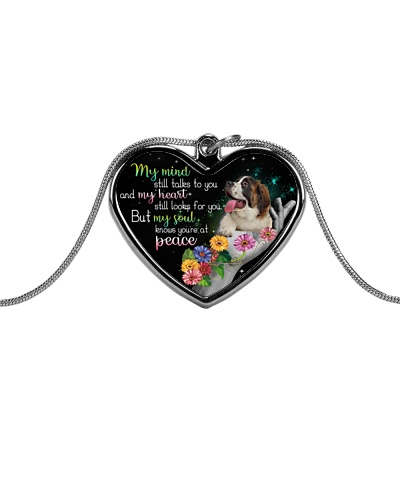 ST Bernard peace necklace