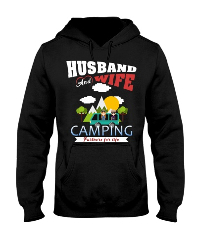 Camping husband wife