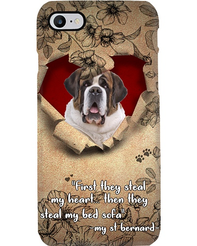 ST Bernard torn phone case