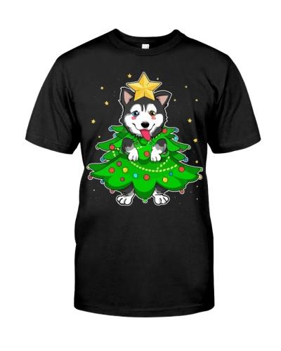 Siberian Husky Star Christmas Tree