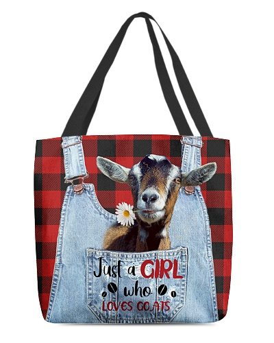 SHN 10 Just a girl who loves Goats tote bag