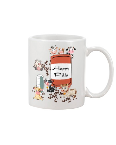 Cow happy pills mug