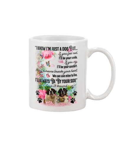 St bernard i know mug