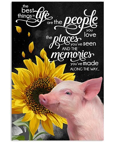 Pig love memories poster