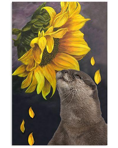 Otter sunflower poster