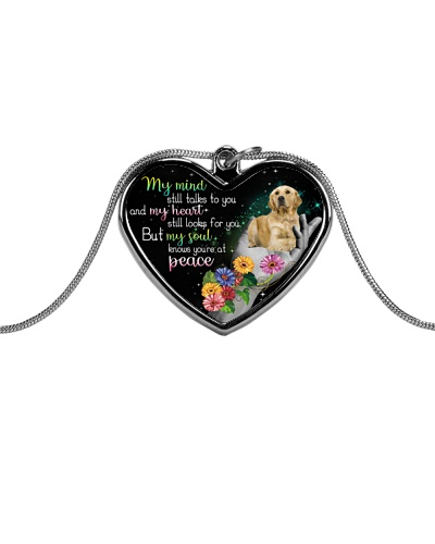 Golden Retriever peace necklace