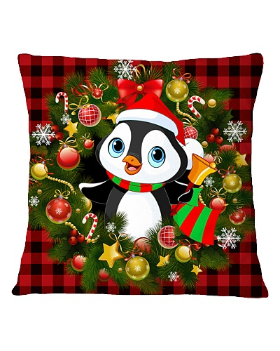 Penguins Christmas Pillow