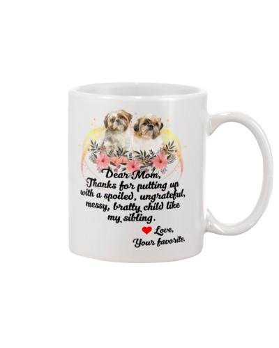 Shih tzu dear mom love mug