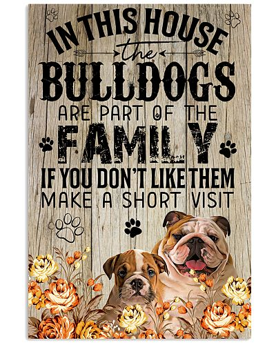 Bulldog Family Poster