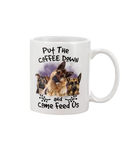 German Shepherd Put The Coffee Down