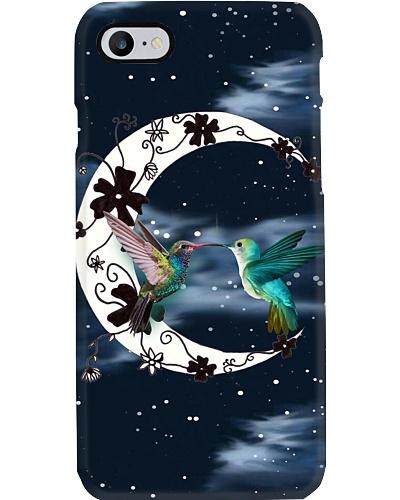 Hummingbirds Moonlight Phone Case