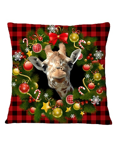 Giraffes Christmas Pillow
