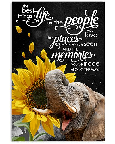 Elephant love memories poster