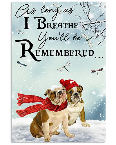 Bulldog Remember Poster