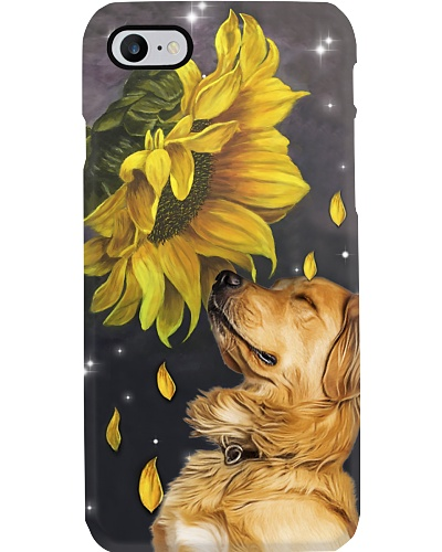 Golden retriever sunflower case