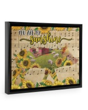 TTN 10 Pig You Are My Sunshine 14x11 Black Floating Framed Canvas Prints thumbnail