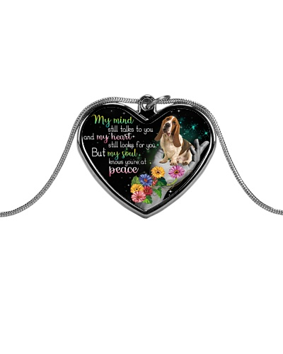 Basset Hound peace necklace