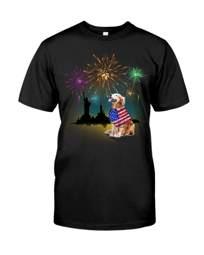 Golden Retriever Fireworks