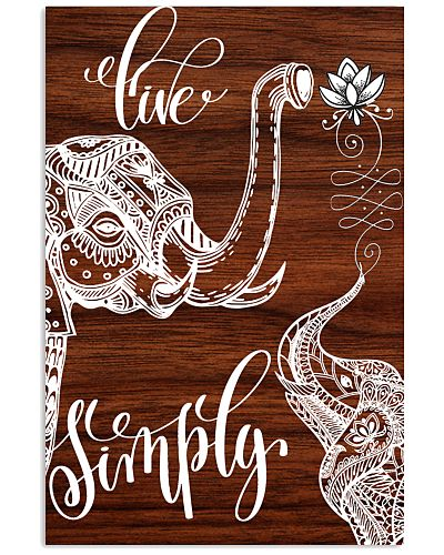 Elephant live simply poster