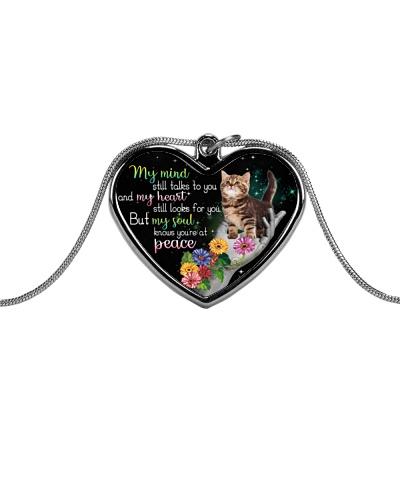 Cat peace necklace
