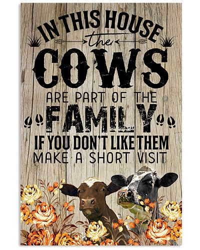 Cow family poster