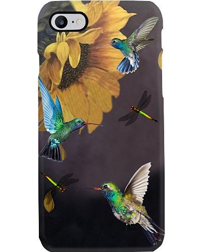 Hummingbirds Sunflower Phone Case