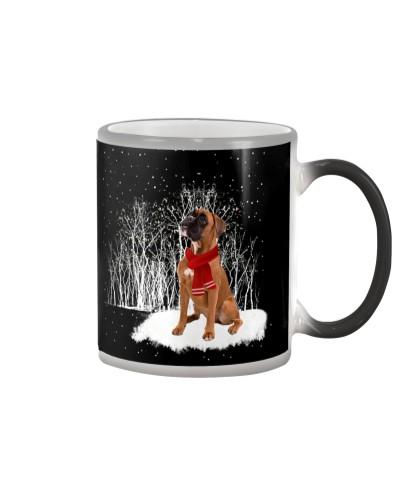 Boxer snow color changing mug