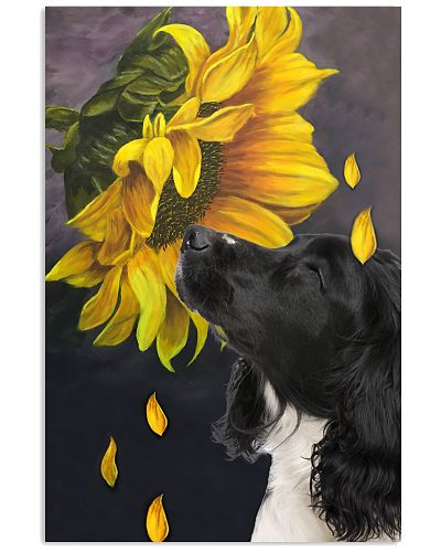 English Springer Spaniel sunflower poster