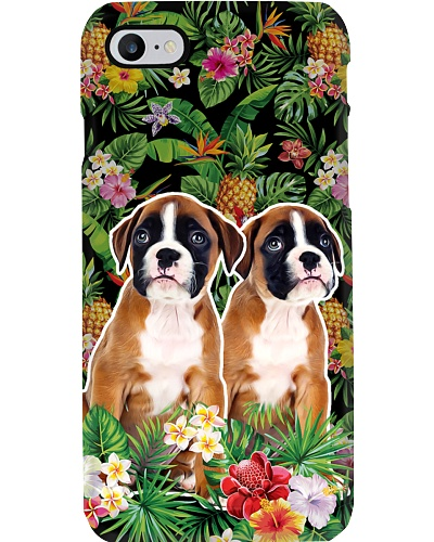 Boxers tropical leaf phone case
