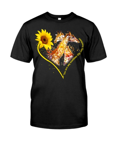 Giraffe sunshine heart
