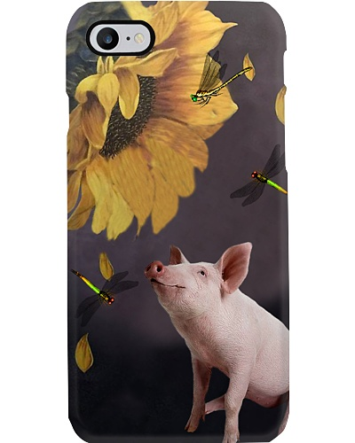 Pig Sunflower Phone Case