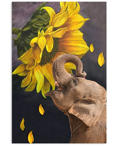 Elephant sunflower poster