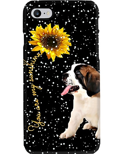 ST Bernard my sunshine phone case