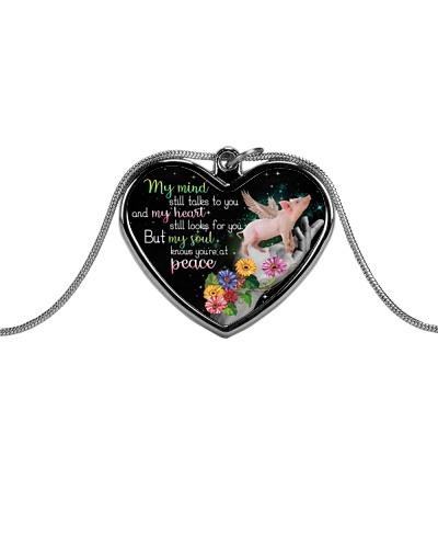 Pig peace necklace