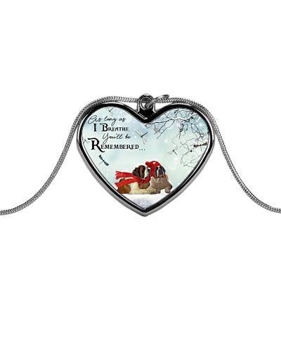 ST Bernard remember necklace
