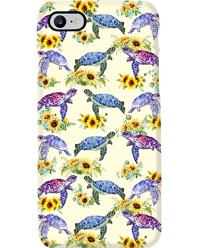 Turle and flowers case
