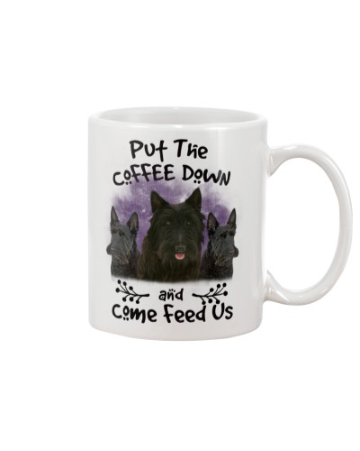 Scottish Terrier Put The Coffee Down