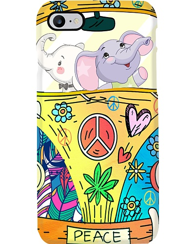 Elephant peace phone case